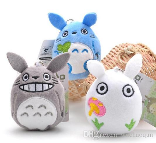 10pcs/lot 9cm Mini Cartoon Totoro Plush Pendant Staffed Soft Anime Totoro Key Chains Bag Pendant Kids Love Toys Doll Gift
