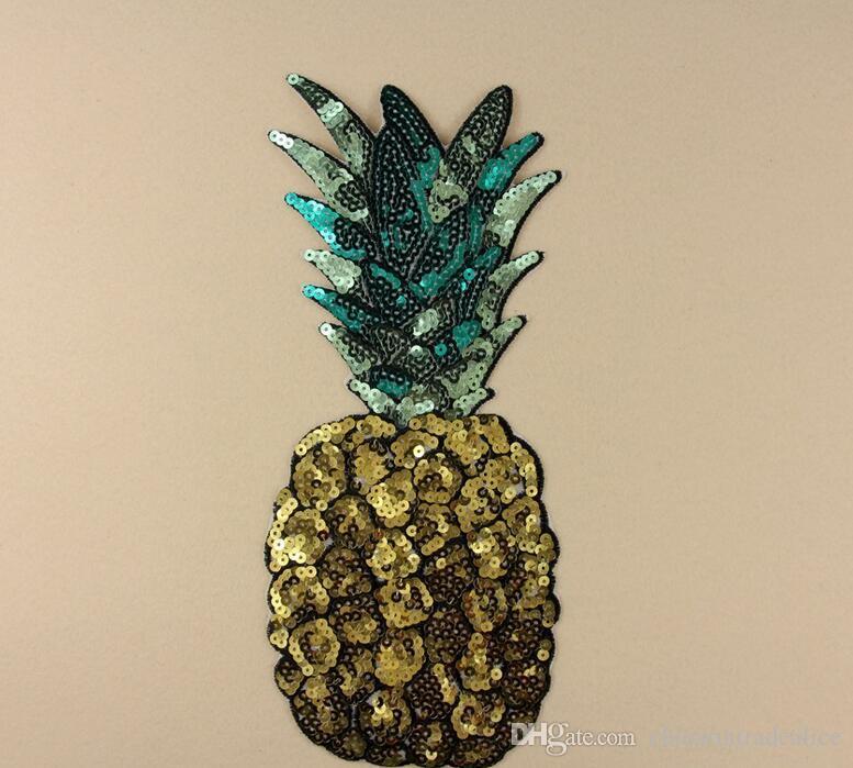 Aufbügeln Patches DIY pailletten Patch aufkleber Für Kleidung kleidung Stoff Abzeichen Nähen glänzende glitter ananas obst etc
