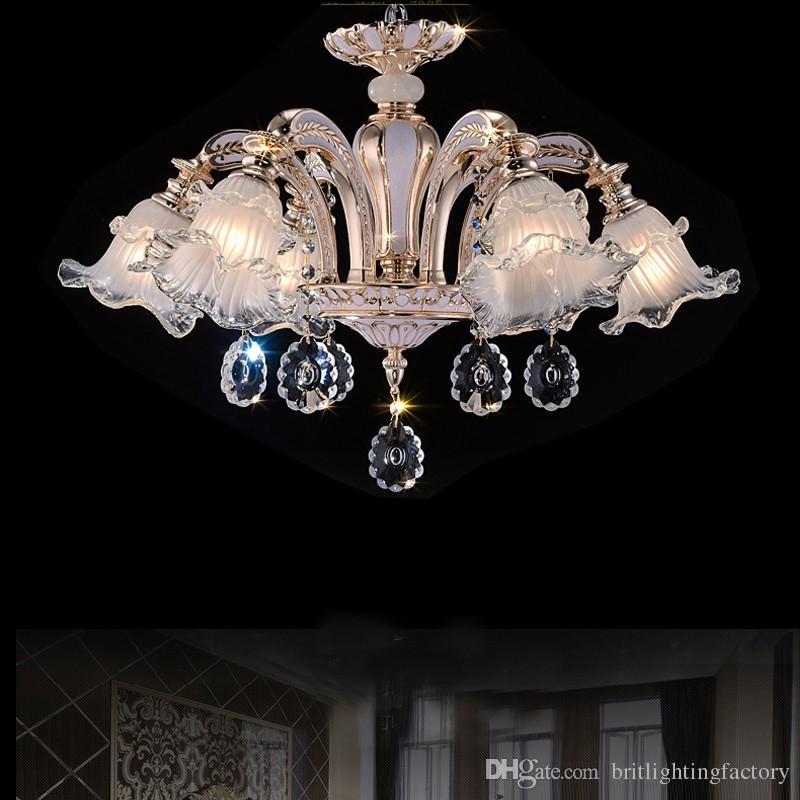 Moda Avizeler LED Kristal Işık Oturma Odası Için Modern Kapalı Aydınlatma Basit Gömme Monte LED Yemek Odası Avize Sarkıt Lambaları