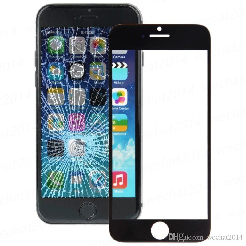 Czarny White Front zewnętrzny ekran dotykowy Wymiana dla iPhone 6 plus 6s plus 7 plus darmowy DHL