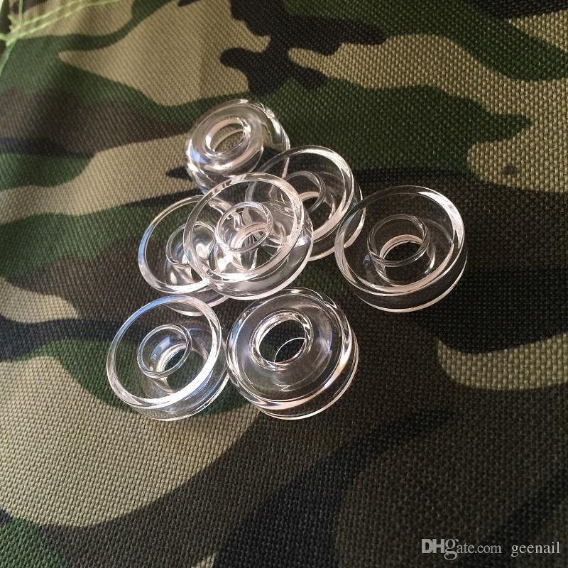 Ciotola al quarzo per chiodo in titanio 16mm 20mm flat 10mm con 22mm 25mm dimensione dab elettrica chiodo E dab nail quarzo bowls