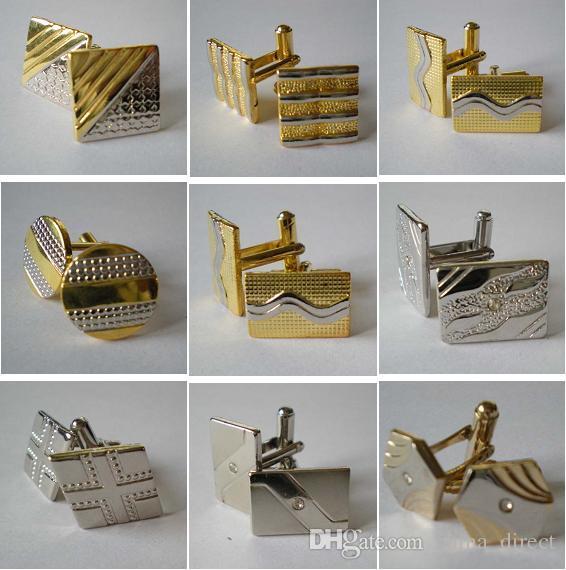 # 10 09 Mens Jewelry 최신 디자인 남성용 커프스 단추 CUFFLINKS, 커프 버튼 50pairs / lot # 2068
