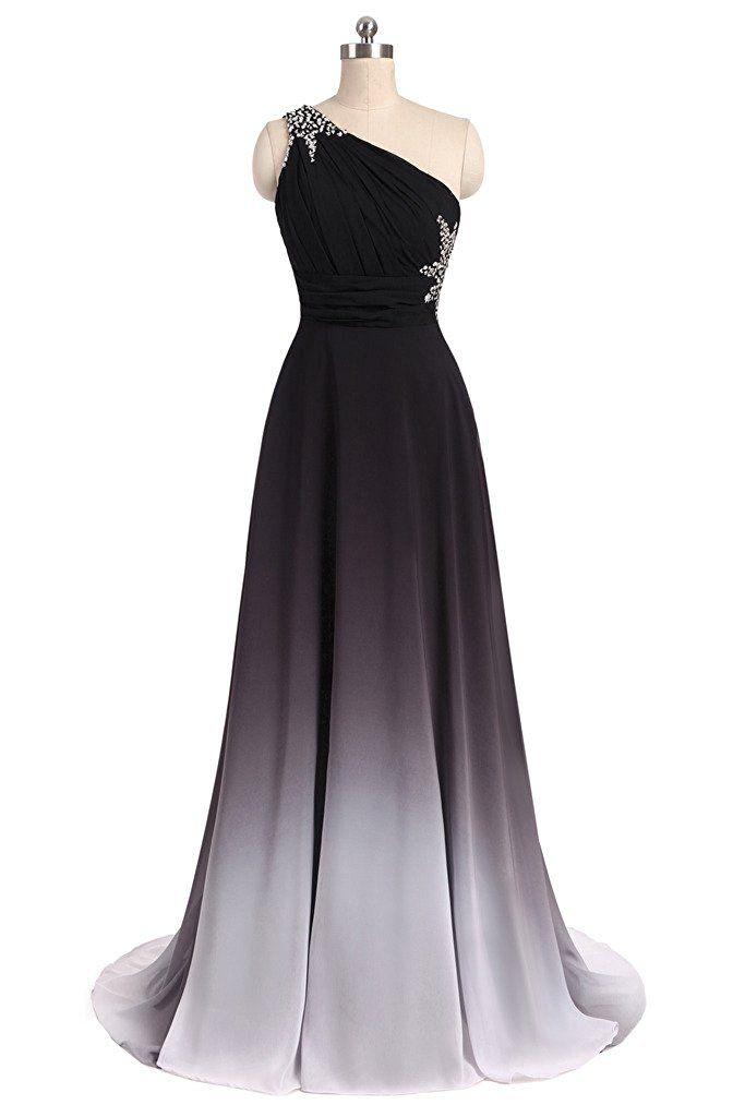 elegant formal black and white dress