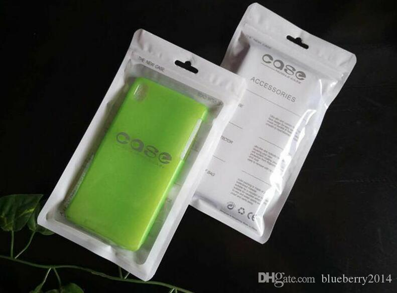Custodia al dettaglio in sacchetto OPP poli sacchetto di plastica antipolvere tasca tasca 12 * 20 cm grande per Samsung Galaxy S3 S4 custodia in pelle per iPhone