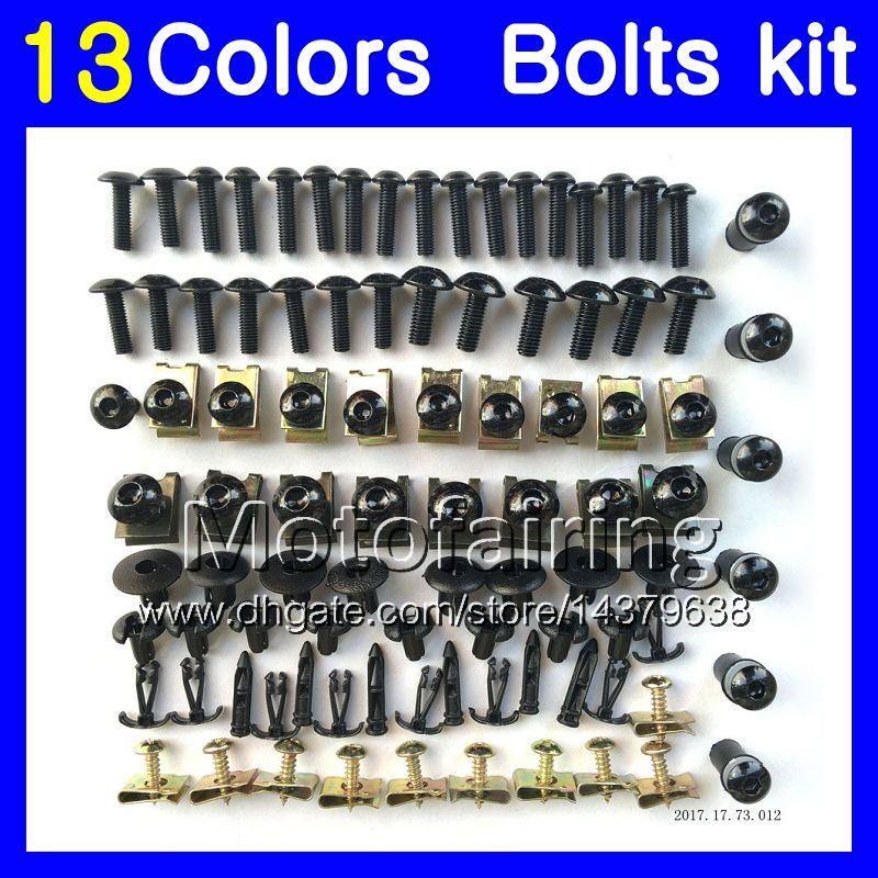 Fairing bolts full screw kit For KAWASAKI NINJA ZX7R 96 97 98 ZX-7R ZX750 ZX 7R 1996 1997 1998 1999 Body Nuts screws nut bolt kit 13Colors
