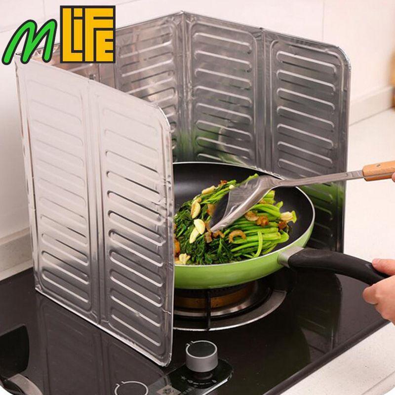 Óleo de cozinha Placa De Folha De Alumínio Fogão A Gás de Óleo Telas de Splatter Cozinha Ferramentas Cozinhar Isolar Prova Do Respingo Da Placa Do Defletor