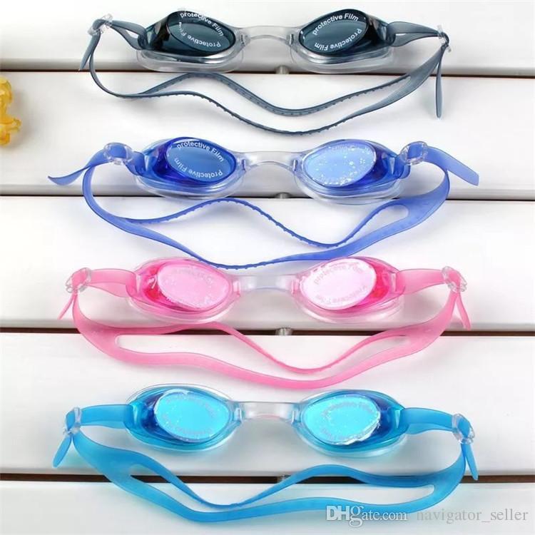 DHL / 페덱스 선 어린이 어린이 수영 안경 방한용 고선명 소년 소녀 수영 고글 다이빙 안경 귀마개 용 실리콘 조절 식