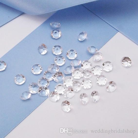 Oferta de liquidación - 10 colores 5000pcs 6.5mm (1 Carat) Diamond Confetti Acrílico Granos Tabla Dispersión para centros de mesa Jarrones de relleno Decoración de la boda