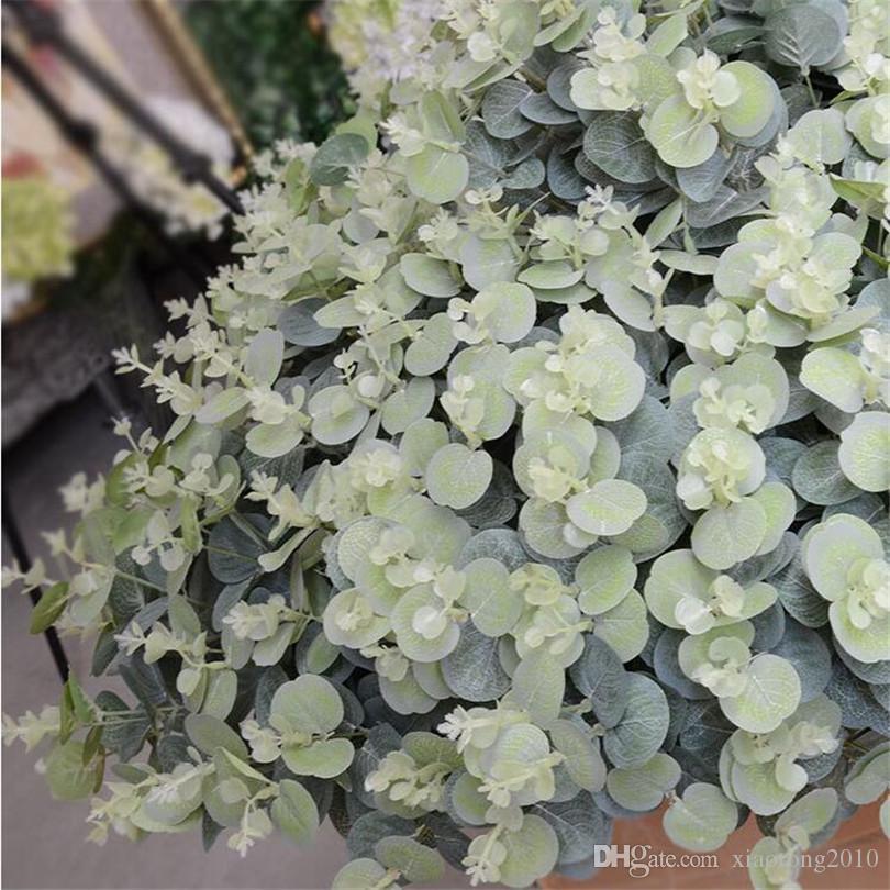 Eucalipto Fiore artificiale decorazione floreale seta artificiale lascia pranzo tavola sala modo decorazione piante artificiali