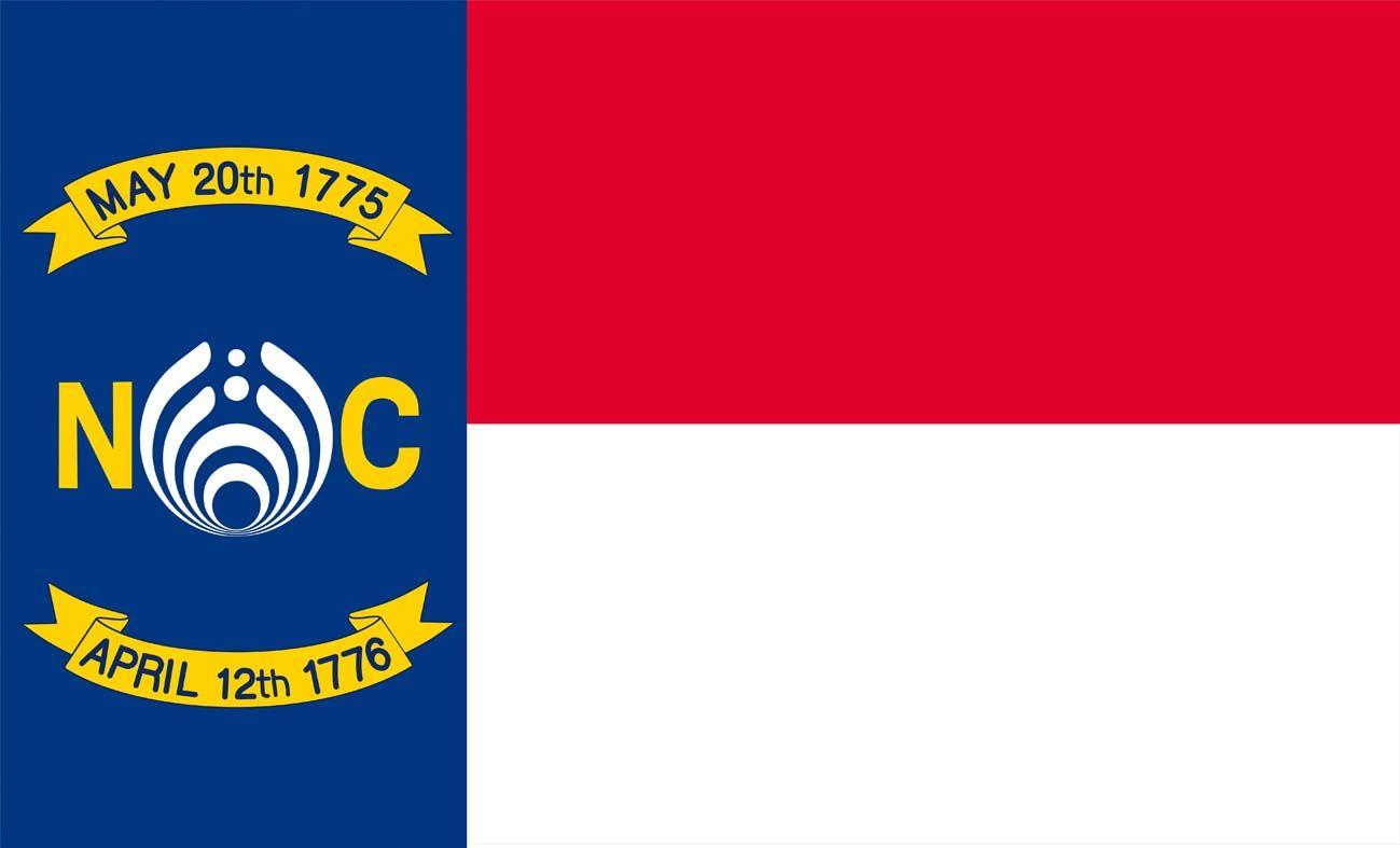 3ft x 5ft Северная Каролина Басснектар флаг 100D полиэстер декоративные баннер с двумя металлическими люверсами