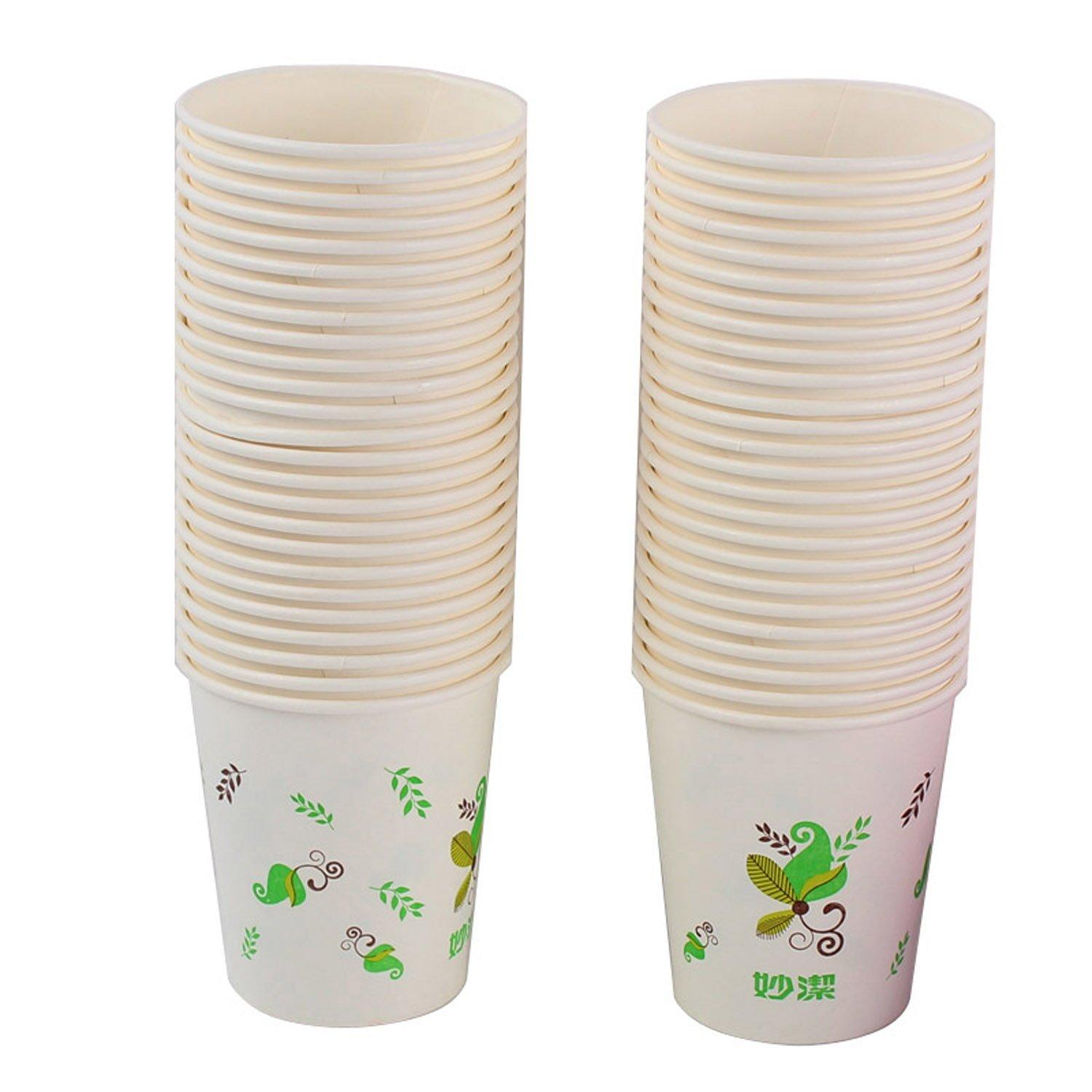 2019 Disposable Paper Cups 100 Cup Thickening No Leakage