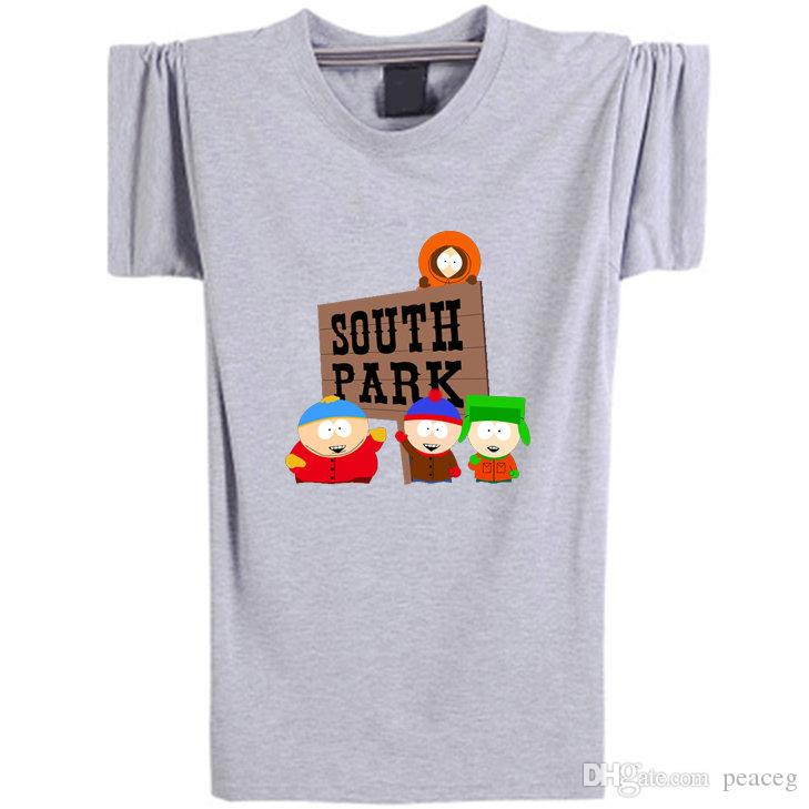 South park T shirt Funny role short sleeve Cartoon tees Leisure punk clothing Elastic cotton Tshirt