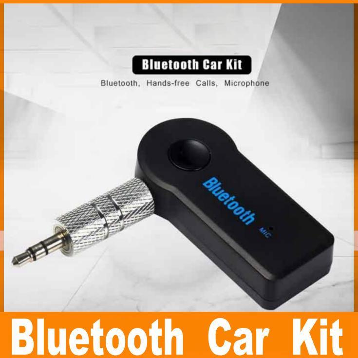 عالمي 3.5 ملليمتر بلوتوث سيارة كيت A2DP اللاسلكية aux الصوت الموسيقى استقبال محول يدوي مع مايكروفون ل الهاتف مربع التجزئة mp3