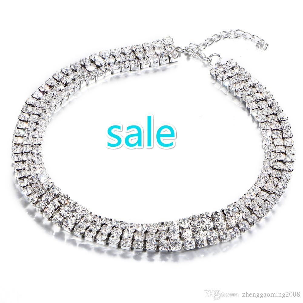 2016 판매 Collares 펜던트 Kolye 무료 배송 새로운 패션 다이아몬드 목걸이 쥬얼리 빔 요소 쇄골 목 체인 조커 장식품 기사