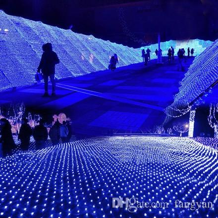 6 M * 4 M 672 LED Árvore de Malha Casa Teto Cadeia de Fadas de Corda de parede Net Luz Twinkle Lamp Garland Para Festival de Natal Decoração Do Feriado