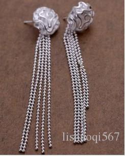 прекрасный 925 серебряные кисточки леди колошение (sp3658)