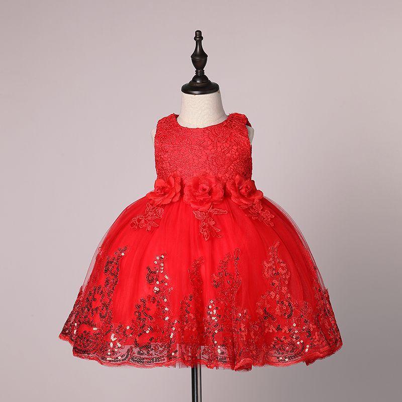 a081ef69f0706 2019 2017 New Kids 1 Year Birthday Dress Sleeveless Newborn Baby Girl Dress  Casual Kids Dresses For Wedding Party Princess Vestidos From Xiruimaoyi2,  ...
