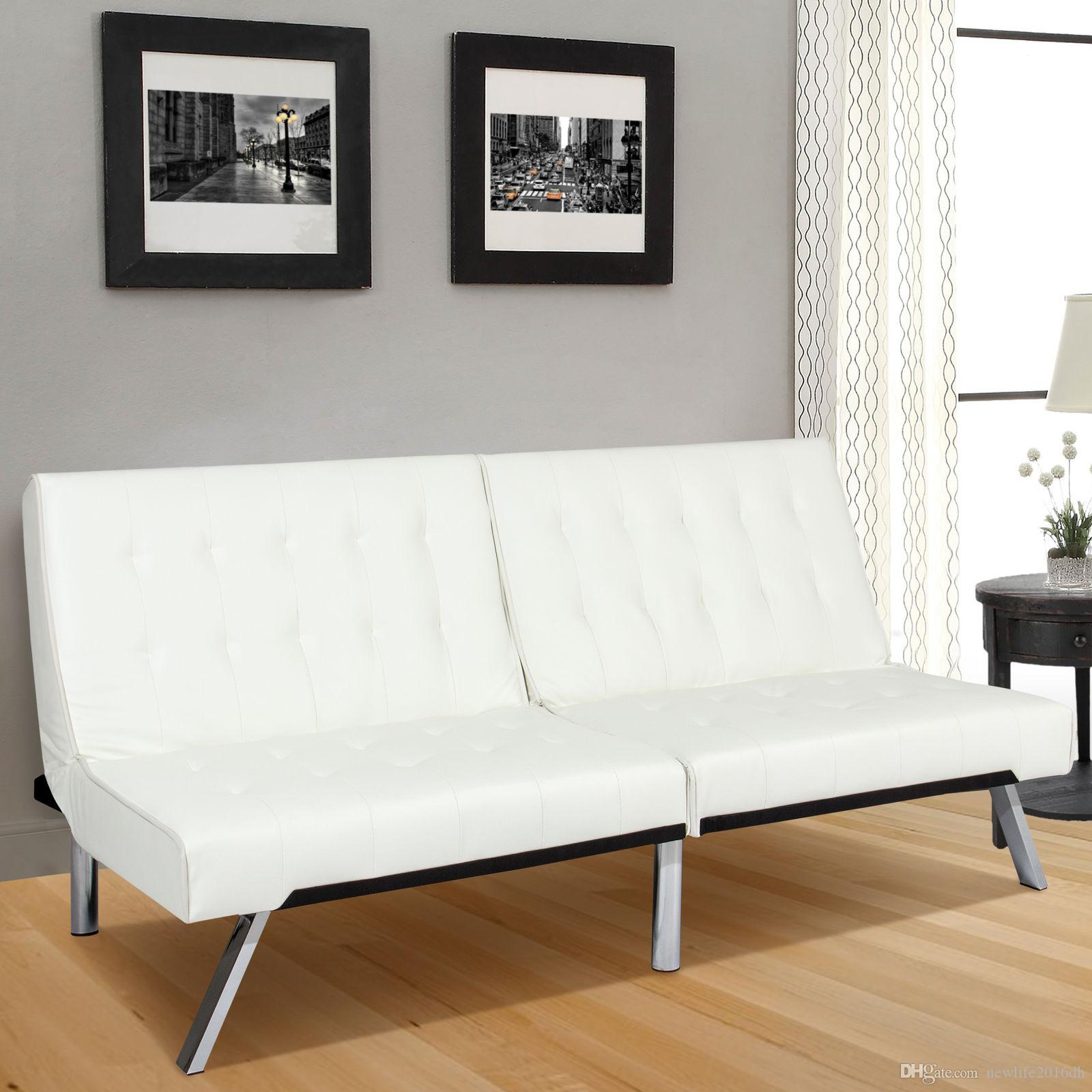 2019 Modern Leather Futon Sofa Bed Fold Up & Down Couch Recliner Lounger  Sleeper Whte From Newlife2016dh, $149.75 | DHgate.Com