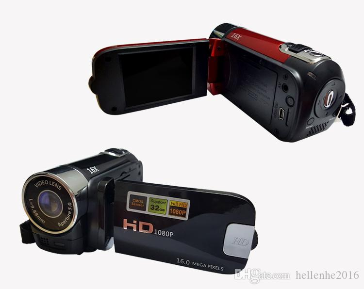 """새로운 캠코더 CMOS 16MP 2.7 """"TFT LCD 비디오 카메라 16X 디지털 줌 Shockproof DV HD 1080P 레코더"""