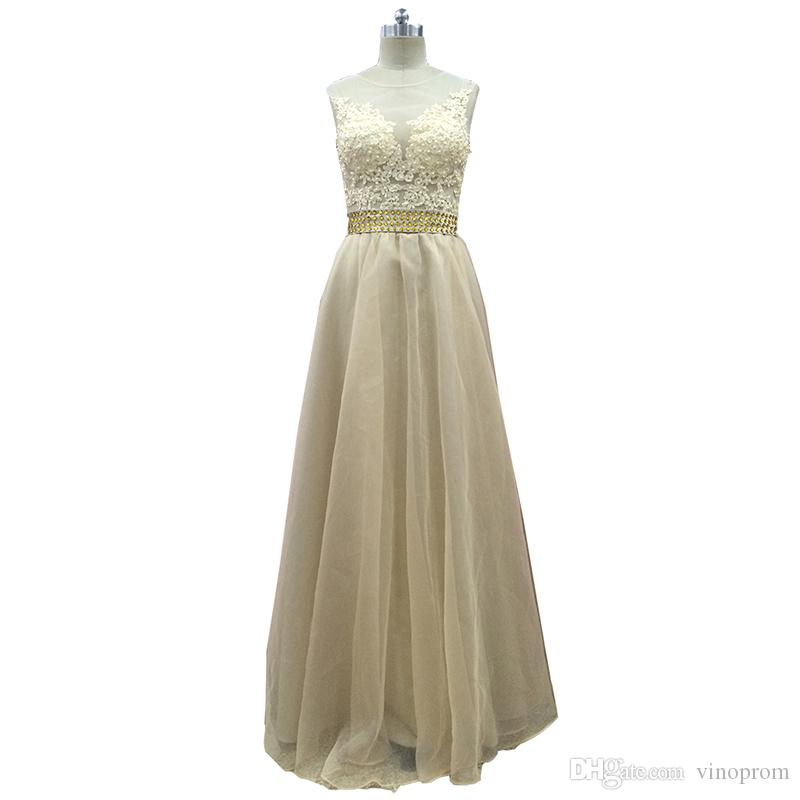 Vinoprom Vestido Longo Real Photo Custom Made Festa Dubai Crystal abito da sera abiti da ballo formale