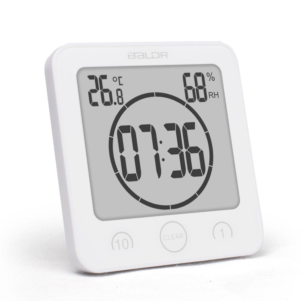 جديد الرقمية دش ماء جدار حامل مدار الساعة الرطوبة درجة الحرارة الموقت
