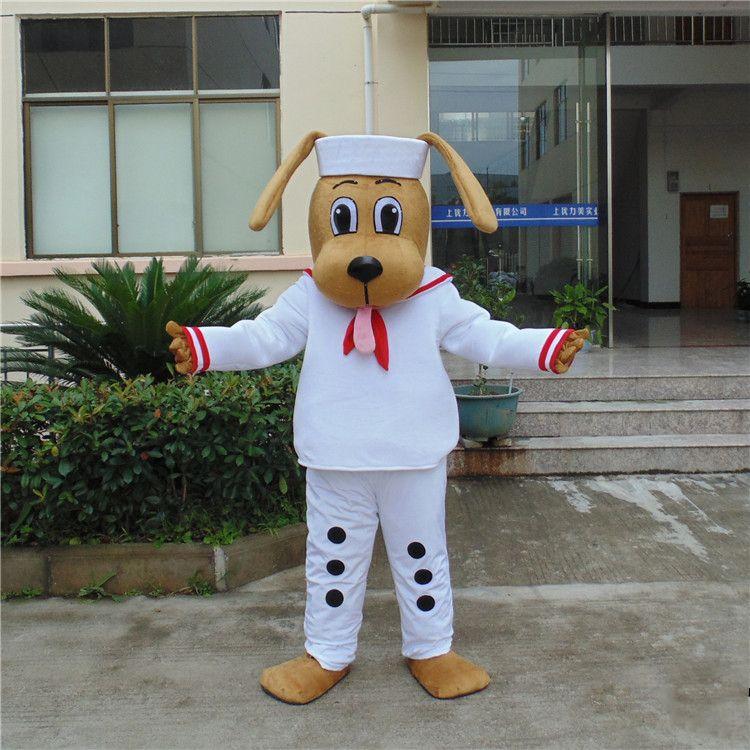 Cão Marinheiro Adorável Mascot Costume Sailor Doggie Adulto Tamanho Da Mascote Do Partido Do Feriado Vestido Extravagante Frete Grátis