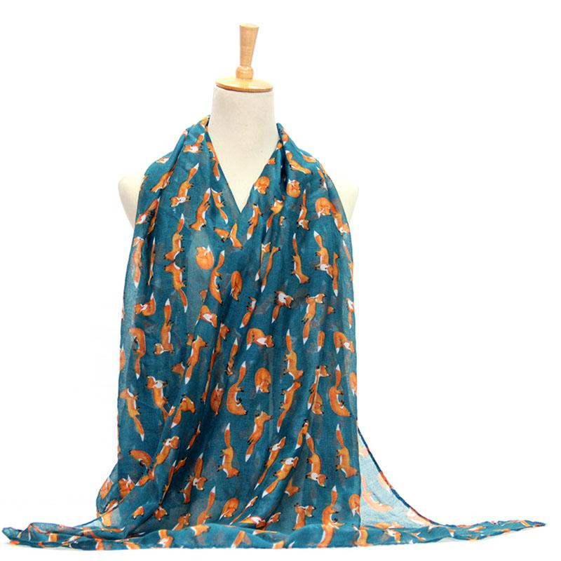 Wholesale- Women Vintage Animal Printed Long Soft Cotton Voile Scarf Shawl Wrap Scarves Hot!