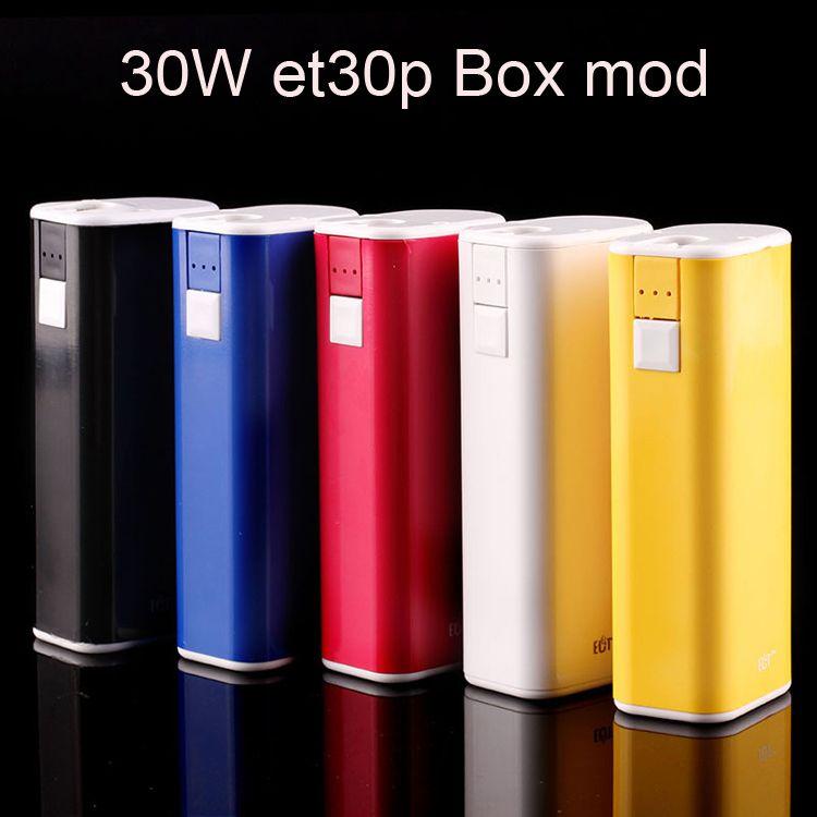 100% Original ECT eT30P E Cigarette Battery 2200mah TC Box Mod 30W fit 510 Thread Atomizer VS Innokin pico mod