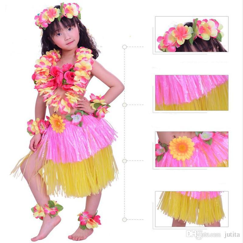 2018 30cm Hula Skirts Lei Headband Flower Garland Wristbands Fancy ...