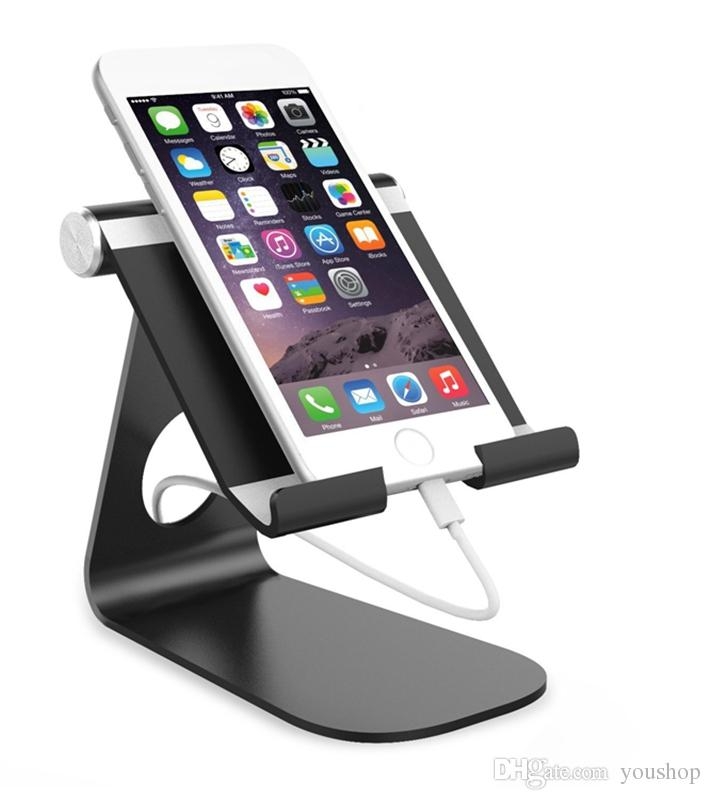 2019 Aluminum Cell Phone Stand Holder Desk Mount Tablet Holder For Iphone 8 8 Plus 7 7 Plus For Samsung Smartphone For Ipad From Youshop 8 05