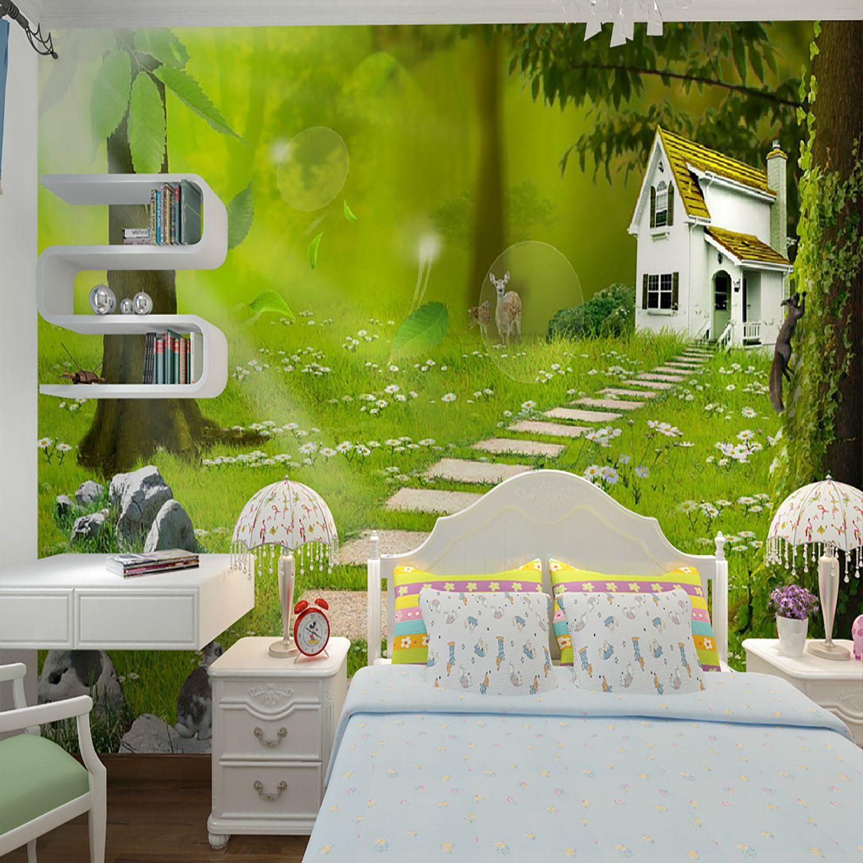 Scenery Wallpaper For Bedroom Custom 3d Mural Wallpaper A Original Ecological Garden Picture