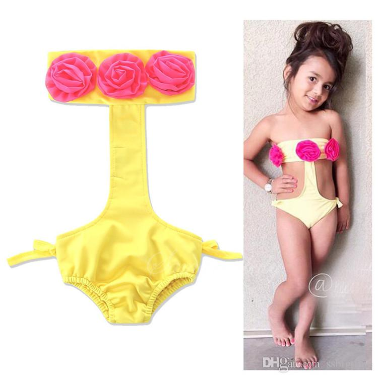 0744b42e63d 2017 Girls Childrens Swimwear Summer One-Pieces Swimsuit Clothing Beach  Bikinis Swim Bathing Suit Girl Kids Swim Trunks Enfant Clothes