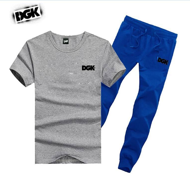 M722 бесплатная доставка s-5xl мужская DGK набор хлопок футболки + длинные брюки скейтборд твердые хип-хоп письмо досуг спортивные костюмы