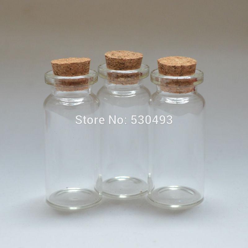 100 adet 22 * 50mm Boş Sevimli Cam Şişe Mini Dileğiyle Cam Şişeler Mantar Tıpa 10 ml Temizle Şişeler stokta