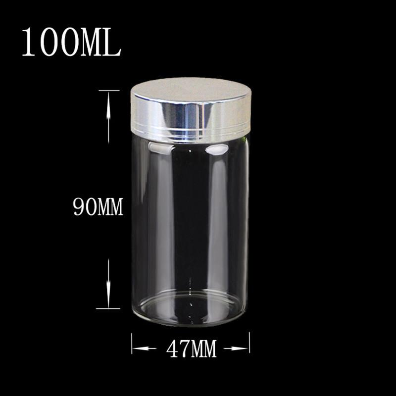 use sealing up bottles mini glass bottles empty cosmetic containers glass botellas glass jars gift bottles capsule liquid food - Large Glass Jars