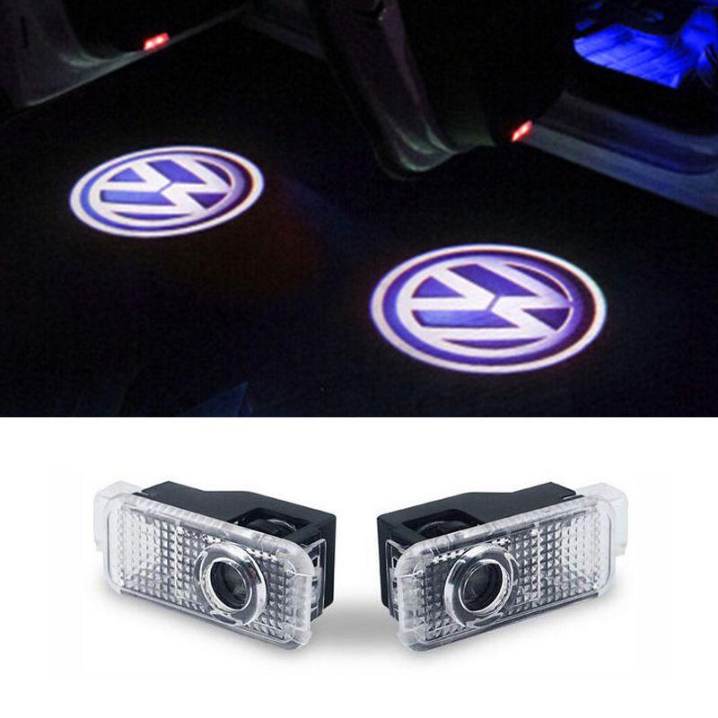 Lumière d'avertissement de porte de LED avec le projecteur de logo POUR Volkswagen VW Phaeton Passat B5 B5.5 Car Styling