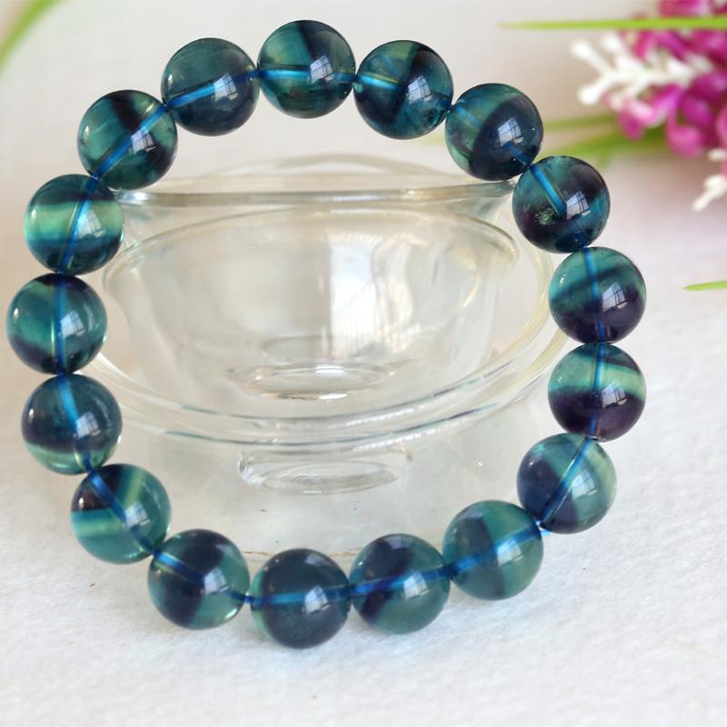 Perline di perline naturali viola blu fluorite cornucopia liscia tonde arrotondate perline 11.6mm 04388