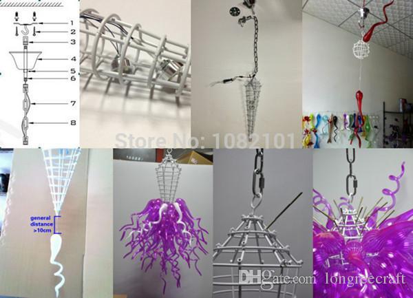 Plafoniera Moderna Vetro Murano : Acquista moderno lampadario in vetro soffiato a led dale chihully