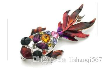 colorful crystal fish men&women chest brooch (28mm*72mm) ming)