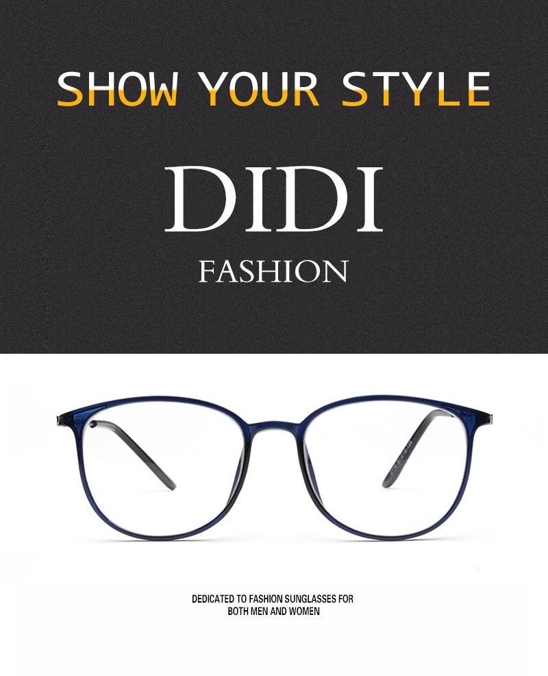 be6ce7dfb4 2019 DIDI Plastic Titanium Clear Glasses Women Men Leopard Print ...