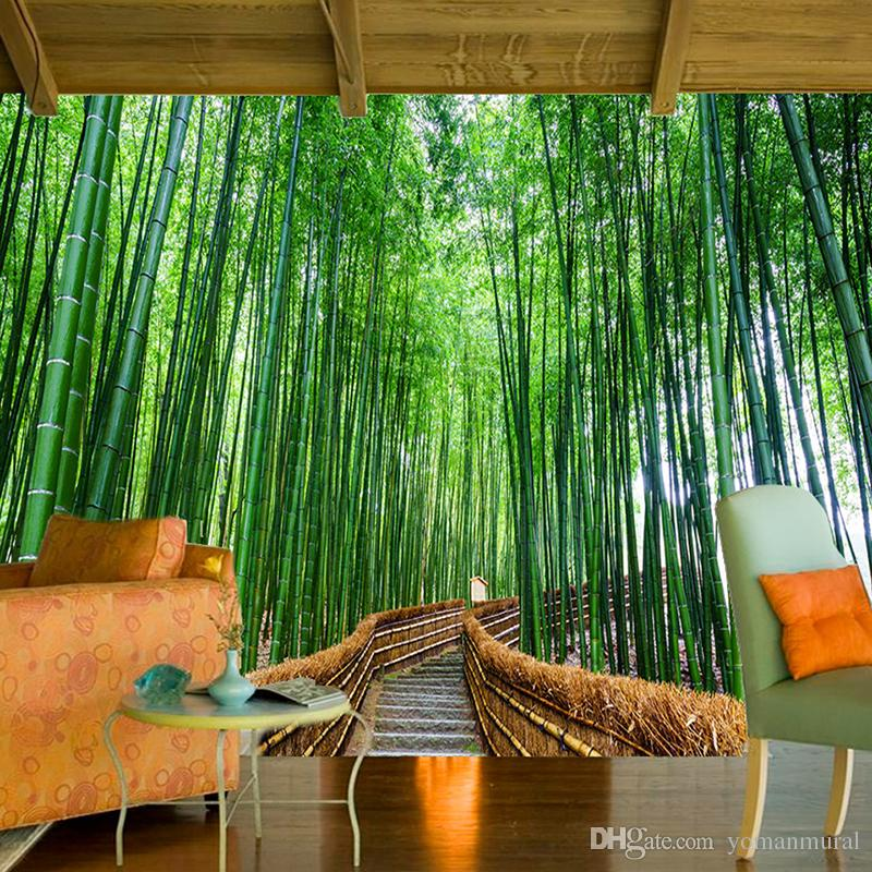 Custom 3D Photo Wallpaper Art Wall Bamboo Forest Background Photography Backdrop Living Room Bedroom Non-woven Wallpaper