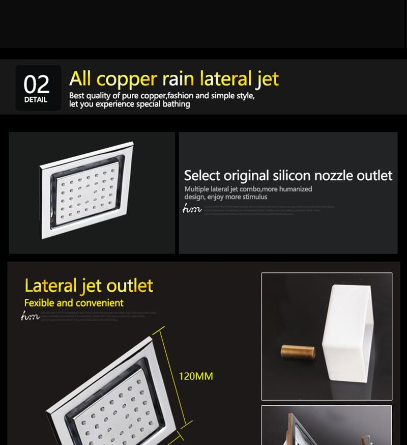 hm LED Rain Shower Set with 2 Lights with Handshower Body Jet Massage Thermostatic Mixer Bathroom Ceiling (19)