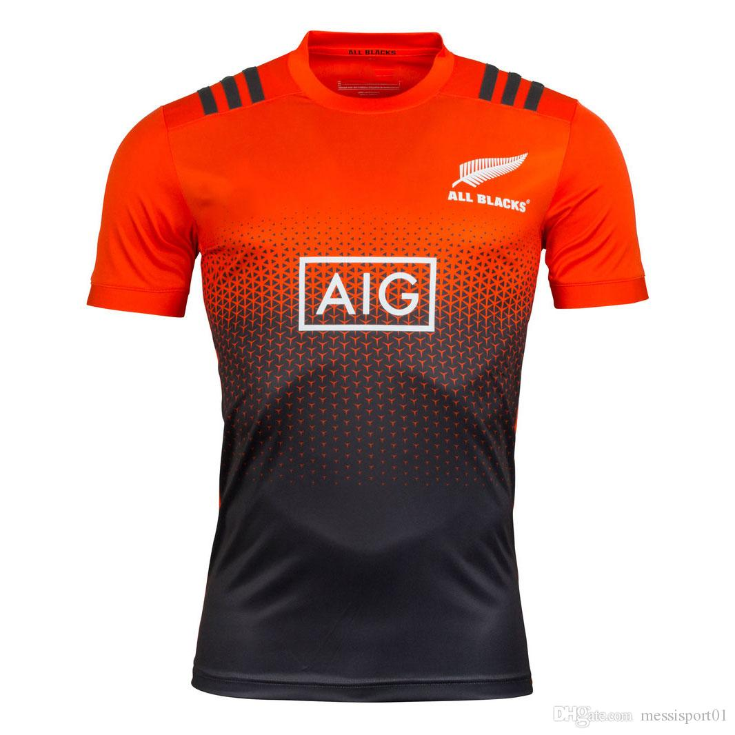 All black t shirt new zealand -  Aaa Top Thai Quality New Zealand All Blacks 2017 18 Performance Rugby T