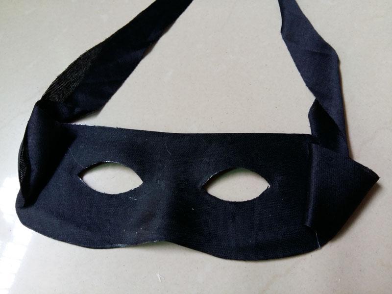 Máscara de Olho preto Halloween Zorro Traje Masquerade Partido Cosplay Máscara Um Tamanho adequado para a Maioria Dos Adultos E Criança
