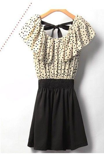 Модные женские шифоновые летние платья с короткими точками