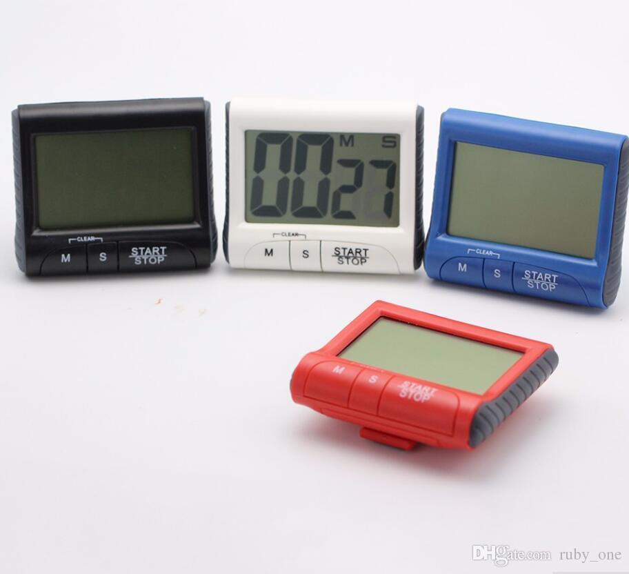 Digital Kitchen Timers Big Digital LCD Magnetic Timer Count Down Up Clock Volume Adjustable Back Automatic Shutdown Timer Reminder KKA1599