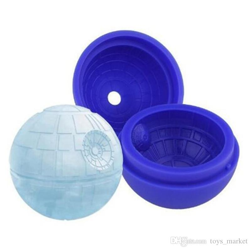 Silicone ice cube tray molds Chocolate Cake Cube Mold Falcon Creative Death Star Ice Cube Mold Round Cocktails Ball