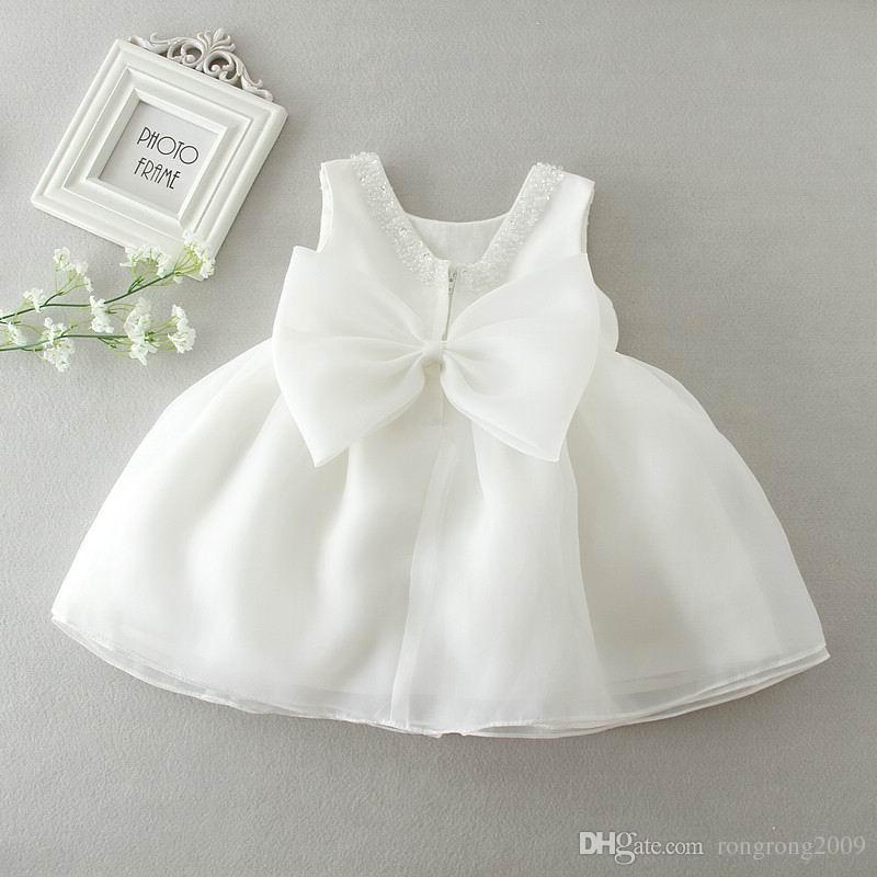 Infant Baby Kid Girl Summer Lace Christening Wedding Party Princess Tutu Dress A