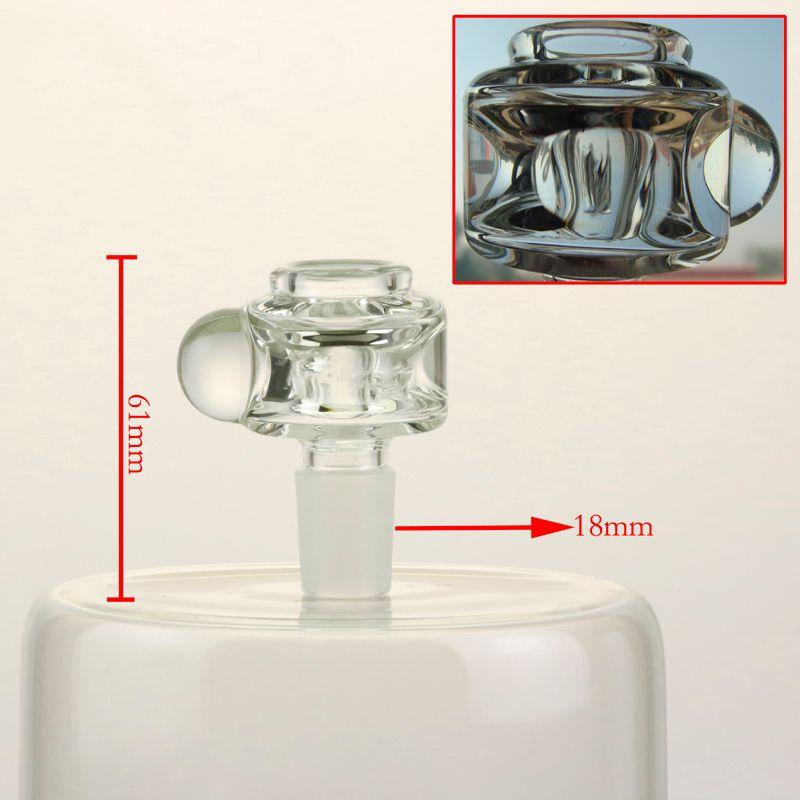 Recipiente negro de alta calidad, peso: 64 g, junta macho de 18 mm, recipiente de vidrio transparente