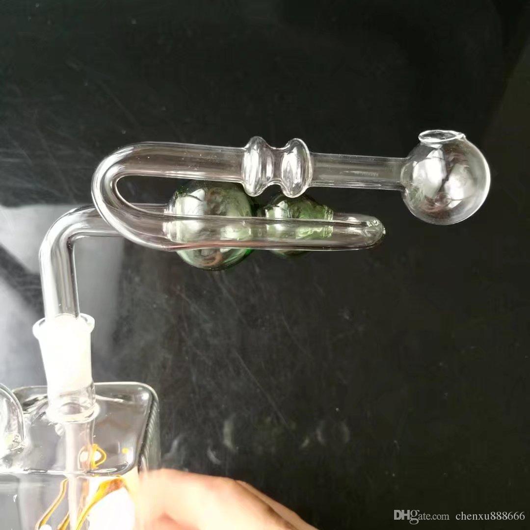 Accessori per bong zucca a forma di Z a colori, Bruciatore a olio unico Tubi di vetro Bong Tubi d'acqua Rigs di olio per tubi di vetro Fumo con contagocce